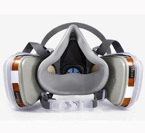 Image 5 - 27 في 1 3M 6200 نصف الوجه رش الطلاء قناع واقي من الغاز صناعة العمل سلامة تنفس الغبار واقية قناع 3M الضوضاء الوقاية سدادة الأذن