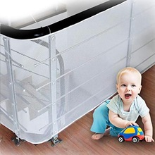 Baby Kids Safety Net Thickened Polyester Fence Mesh Home Balcony Stairs Rail Protection Easy to Install