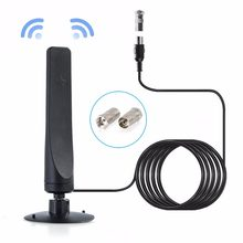 900 miles Free shipping 30dBi clear Aerial indoor HD antenna for digital tv DVB-T2 Freeview Booster satellite dish receiver(China)
