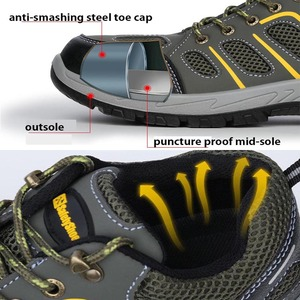Image 4 - MWSC Men Work Safety Shoes Boots Indestructible Steel Toe Cap Shoes Ankle Boots Outdoor Construction Safety Shoes Sneakers