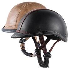 Езда Shating Половина лица винтажный шлем шляпа Кепка для мужчин/женщин скутер мотокросса гоночная Кепка acete World War II шлемы