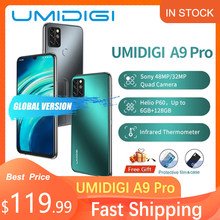 UMIDIGI A9 Pro Smartphone 4/6GB 128GB küresel sürüm 6.3