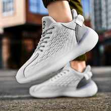2020 New Men's Casual Shoes Kanye West Men Breathable Flyknit Mesh Antiskidding Running Elastic Sneakers Boost Spring Summer