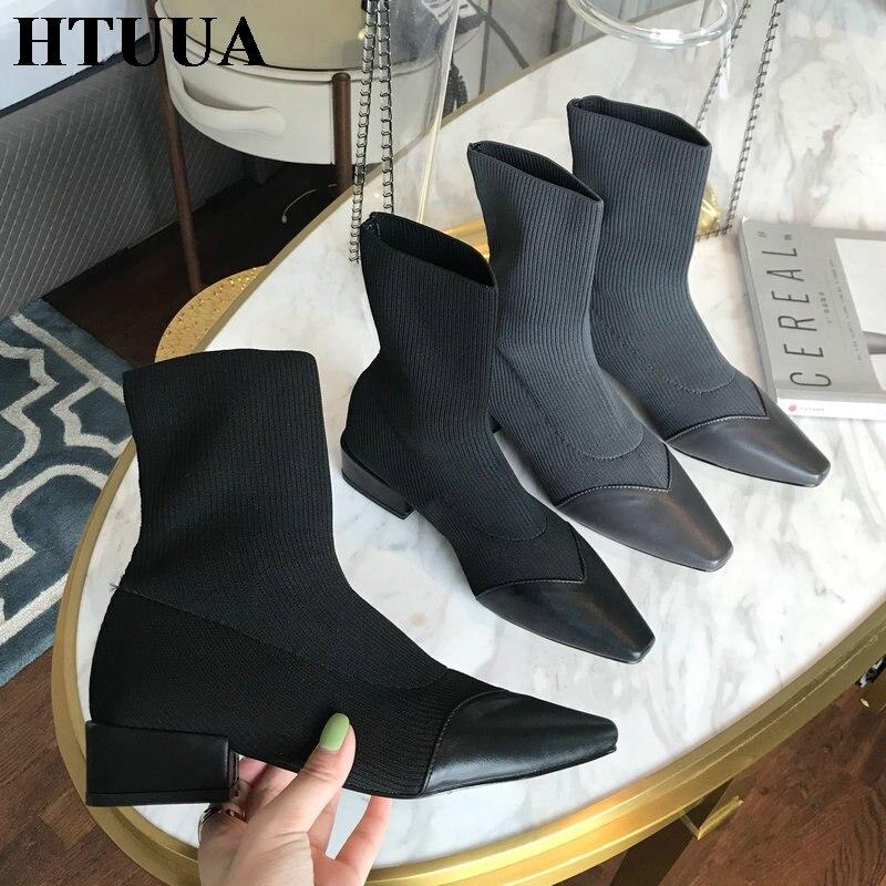 Booties HTUUA Korean Small