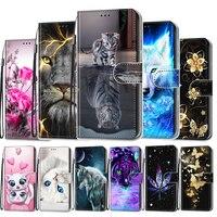 Per i casi di Xiaomi Redmi S2 Y2 3 S di Caso di Vibrazione Del Cuoio Del Raccoglitore Sveglio Del Gatto Del Fiore Della Copertura Del Telefono Per Xiaomi Redmi 3 3 S Caso Libro Xiomi 3s