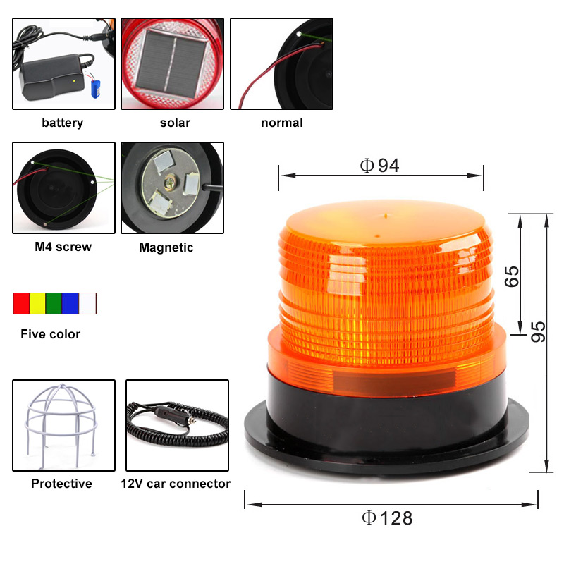solar strobe warning light mini traffic led flashing lamp ac 110v 220v dc 24v 12v truck signal