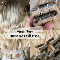 "Neitsi Virgin Cuticle Tape In Hair Weft Extensions 100% Human Hair Double Drawn Adhesive Skin Hair Straight 20"" 80cm Long Piece"