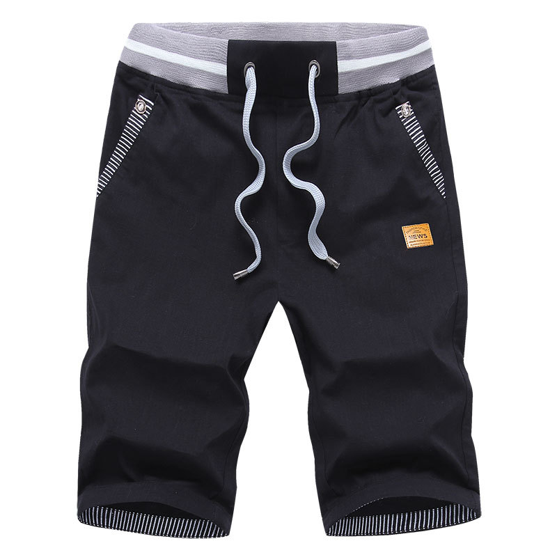 Summer MEN'S Fifth Pants New Style Lightweight Breathable Casual Shorts Loose And Plus-sized Beach Shorts Straight-Cut Sports Sh