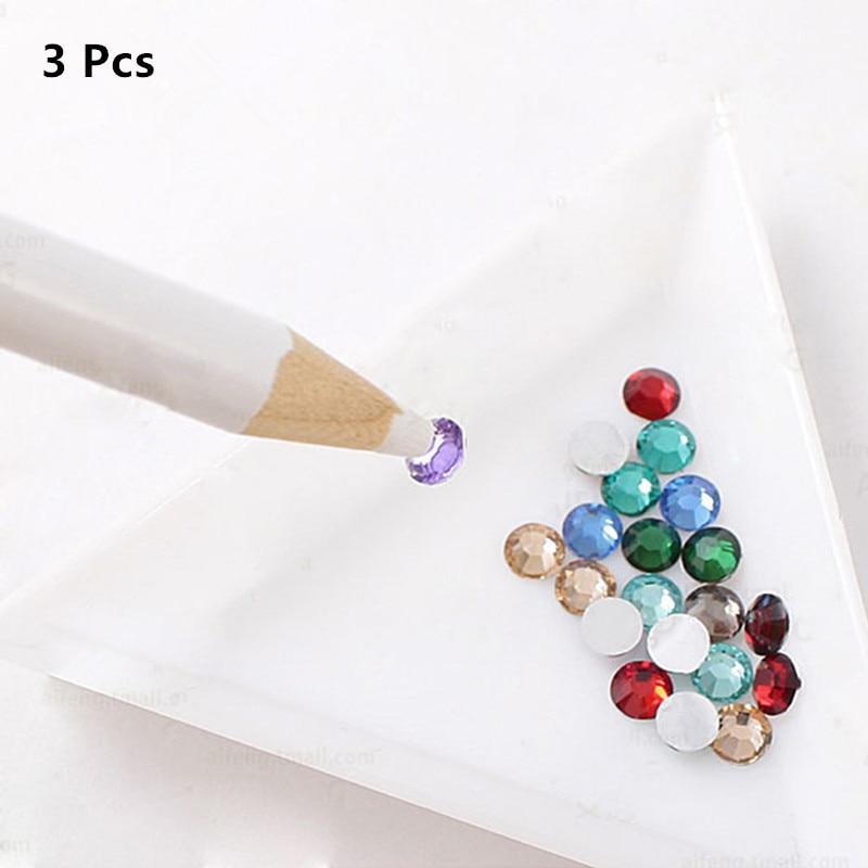 3pcs Easily Picking Up Rhinestone Picker Wax Pen Nail Dotting Tools Nail Tools#G-B005