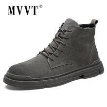 Замшевые ботинки из натуральной кожи мужские зимние теплые модные