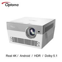 Optoma I5 + DLP מקרן 4K 3840*2160 נדל 4K LED וידאו טלוויזיה אנדרואיד Wifi Bluetooth Beamer קולנוע ביתי UHL55 שדרוג