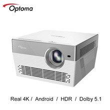Optoma I5 + DLPโปรเจคเตอร์ 4K 3840*2160 Real 4K LED TV Android WIFIบลูทูธBeamerโฮมเธียเตอร์UHL55 อัพเกรด