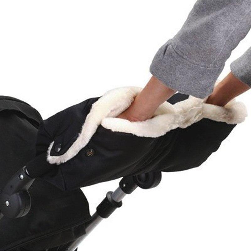 Infant Stroller Gloves Pram Cart Thicken Fleece Gloves Children Winter Warmer Baby Pushchair Accessories Waterproof Hand Mittens