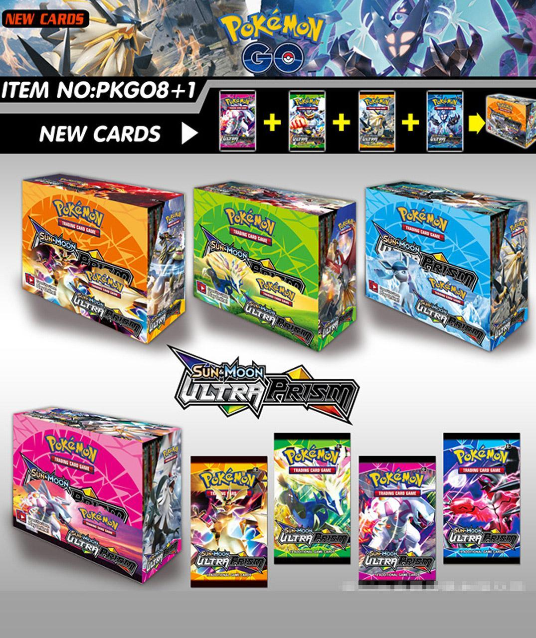 New 324Pcs/box Pokemon Card TCG Sun & Moon Ultra Prism 36 Pack Booster Box Collecting Trading Cards Game