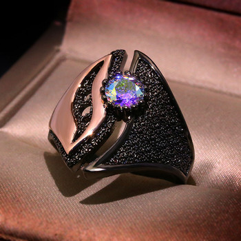 FFLACELL 2020 New Arrivals Two-tone Oval Ring For Women Fidelity Plating Fashion Retro Boutique Ring