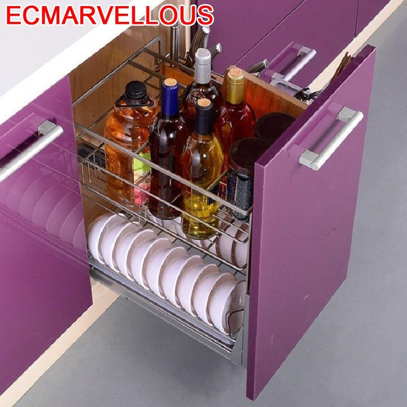 Colgar En La Ducha And Dish Drainer Pantries Despensa Gabinete Stainless Steel Rack Organizer Kitchen Cabinet Storage Basket