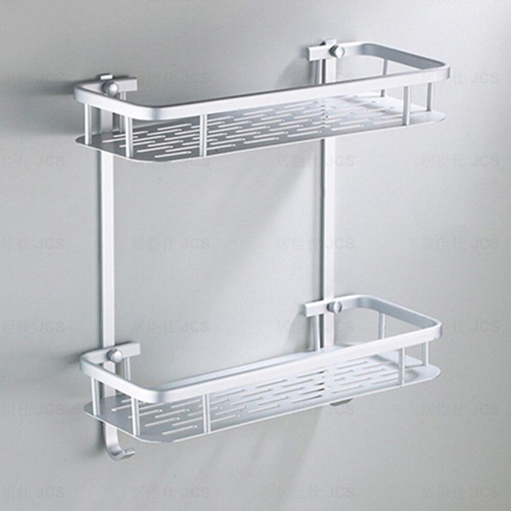 Space Aluminum Corner Basket Bathroom Products Luxury Cosmetic Storage Bathroom Shelf Holder Bathroom Accessories