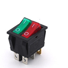 KCD3 KCD8 6PIN  Rocker Switch Power Switch Duplex  ON-OFF 2Position 6 Pins With Light 10A 250V AC / 15A 125V AC momentary 6 pin dpdt black button on off on rocker switch ac 250v 10a 125v 15a