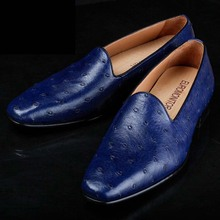 ourui new selling true ostrich leather men shoes business