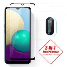 2in1 9 h premium vidro protetor para samsung galaxy a02 a 02 sm-2021 sm-022f/ds 6.5 protectors protectors tela de proteção do telefone inteligente protetores filme