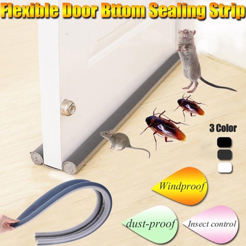 Гибкая Нижняя уплотнительная полоса для двери, резиновая прокладка для двери и окна, под дверью пыль и звуковые полоски для изоляции, ветра ...
