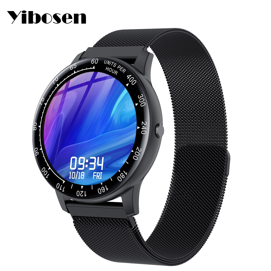 """Yibosen 2020 Smart Watch Men Women 1.28""""Customize Dial Heart Rate Blood Pressure Monitor Waterproof Smartwatch For iOS Android(China)"""