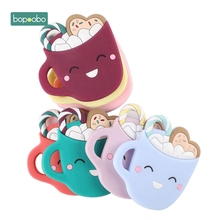 Bopoobo 1PC Food Grade Baby Teethers Silicone Cup Chewable B