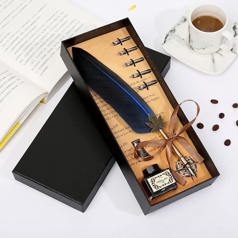 2019 new Harry Potter watery feather pen birthday gift for Christmas gifts in Fountain Pens from Office School Supplies