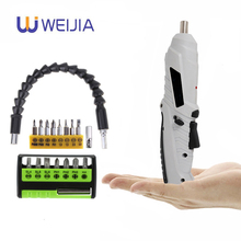 Cordless Mini electric screwdriver Shape-shifting 3.6V Power tools  Rechargeable Lithium battery  Two-way switch Home DIY Set