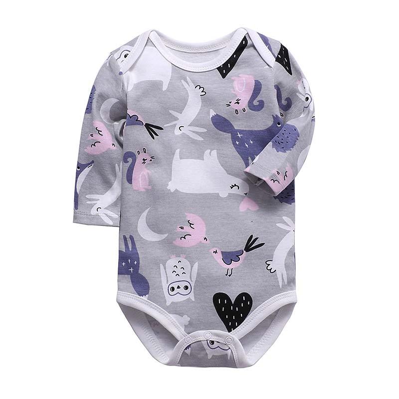 100% Cotton Bodysuits Toddler Boy Jumpsuit Newborn Clothes Long Sleeve Infant Winter Baby Bodysuit Set Ropa Kids Clothes