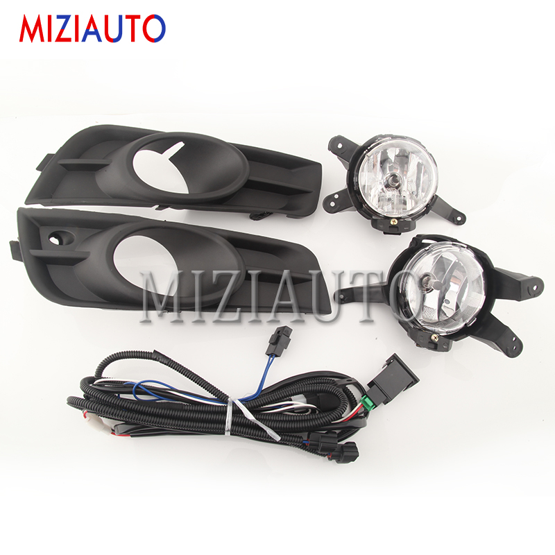 12V Car Fog Lamp Assembly for <font><b>Chevrolet</b></font> <font><b>Cruze</b></font> <font><b>2009</b></font> 2010 2011 2012 2013 <font><b>2014</b></font> with Fog Light Covers and Wire Relay Switch Button image