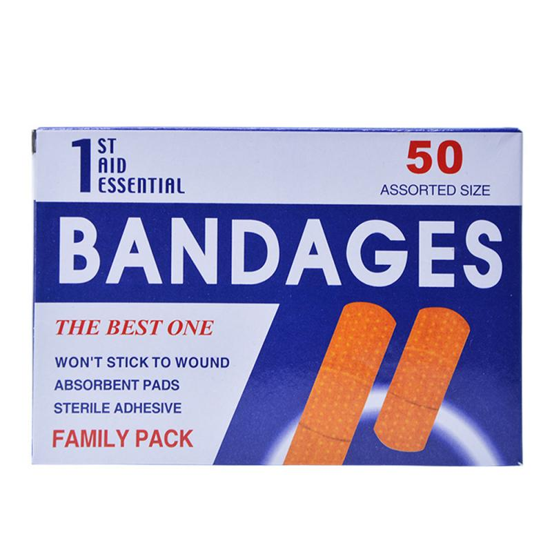 2019 New 50pcs / Box Wound Paste First Aid Bandage Hemostasis Band-aid Plaster Bandage For All Types Of People