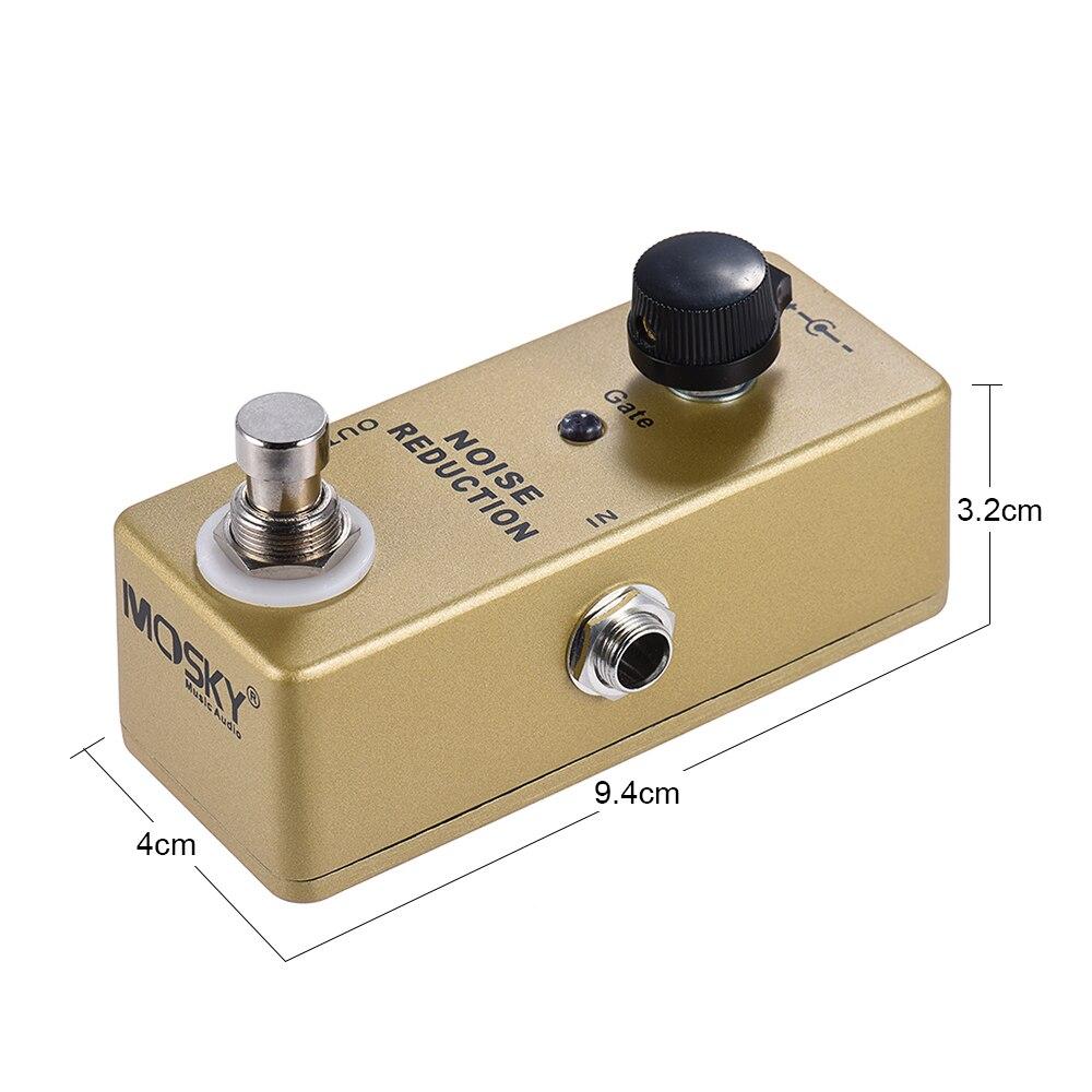 MOSKY MP-40 porte de bruit réduction de bruit suppresseur Mini guitare simple effet pédale véritable contournement couleur or