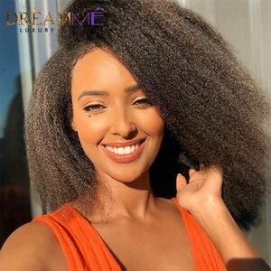13X4 кружевные передние человеческие волосы парики с детскими волосами 150% плотность бразильские кудрявые прямые кружевные передние парики ...
