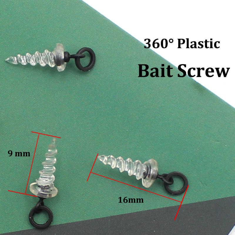 Bait Screws 360 with Micro Flexi Ring Hook Swivel Carp Fishing Tackle