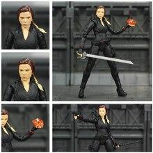 """Avenger 4 Endgame Black Widow 6"""" Action Figure Infinity stones Soul Gem Scarlett Johansson Legends KOs SHF Doll Toys Model"""