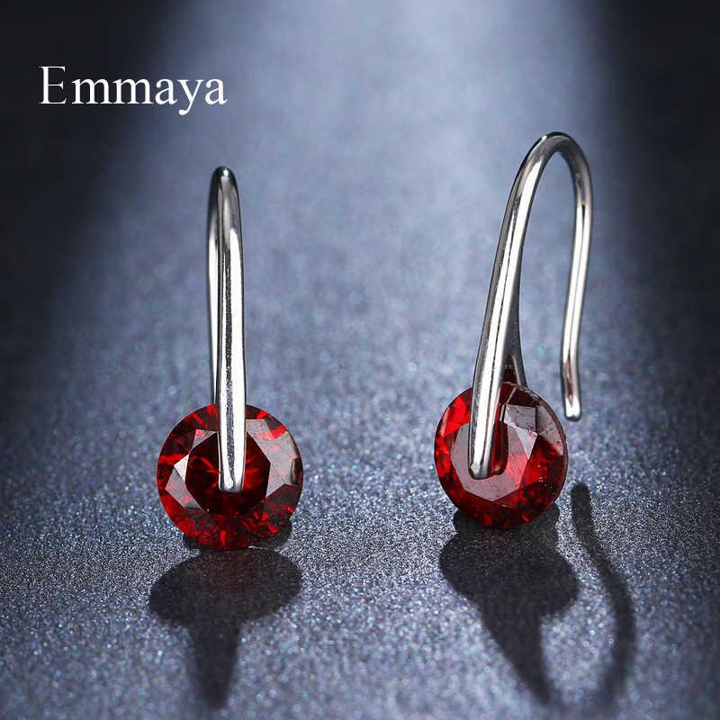 Женские и женские серьги-подвески Emmaya, Простые Вечерние серьги с кубическим цирконием, классические украшения