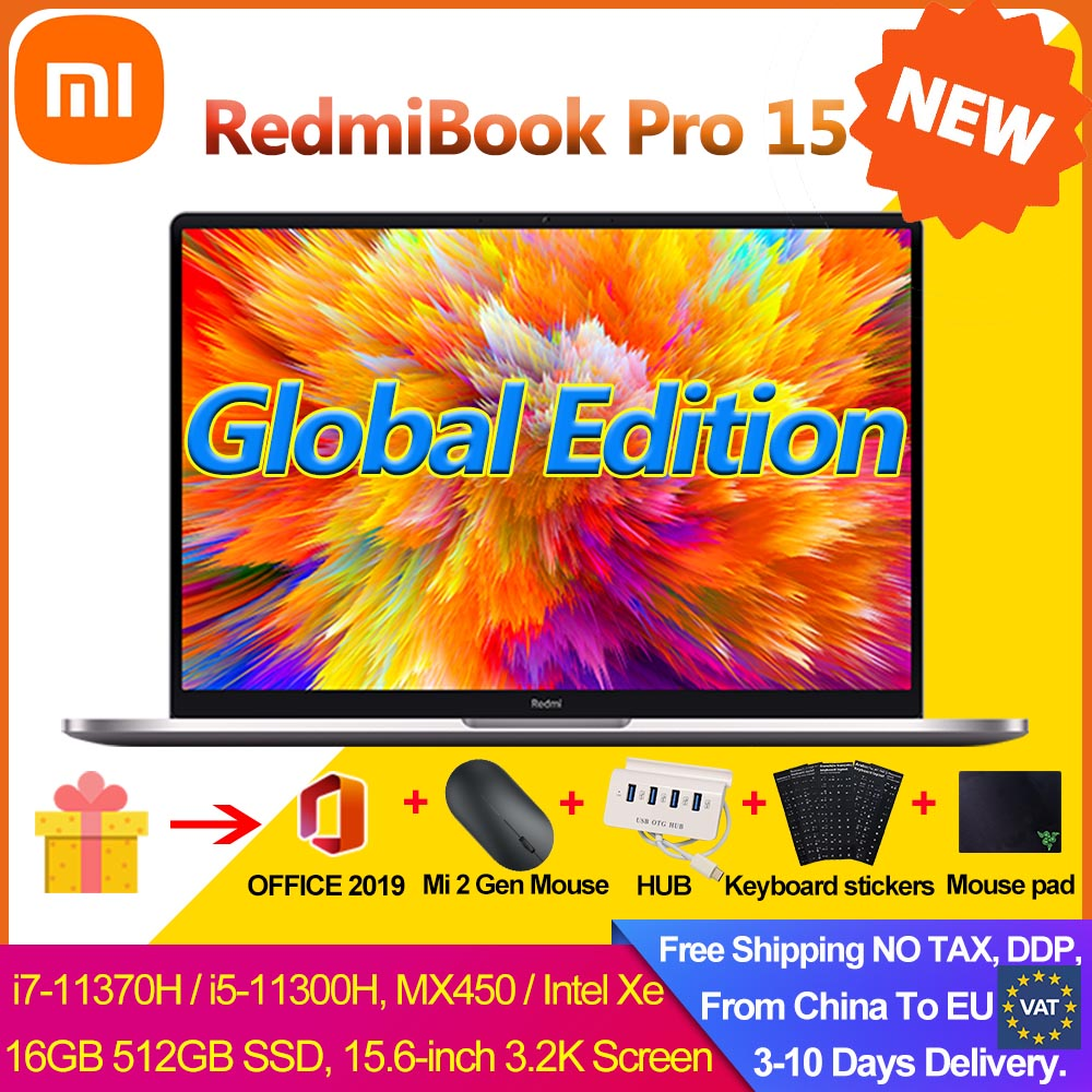 """2021 Xiaomi RedmiBook Pro 15.6"""" Laptop Intel MX450 i7-11370H/i5-11300H 16GB 512GB Mi Notebook 100% sRGB FHD Screen Win 10 Pro PC 1"""