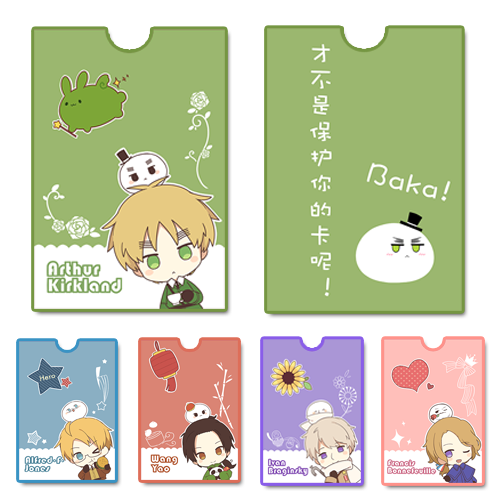 Japanese Anime Axis Powers Hetalia APH Cards Holder Bus Pass Business Card Case Cosplay Xmas Gifts