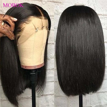 Mobok Straight Lace Front Wig 13X4 Lace Front Bob Wigs 150% Remy Brazilian Lace Front Human Hair Wigs Short Bob Lace Front Wigs mobok straight lace front wig 13x4 lace front bob wigs 150
