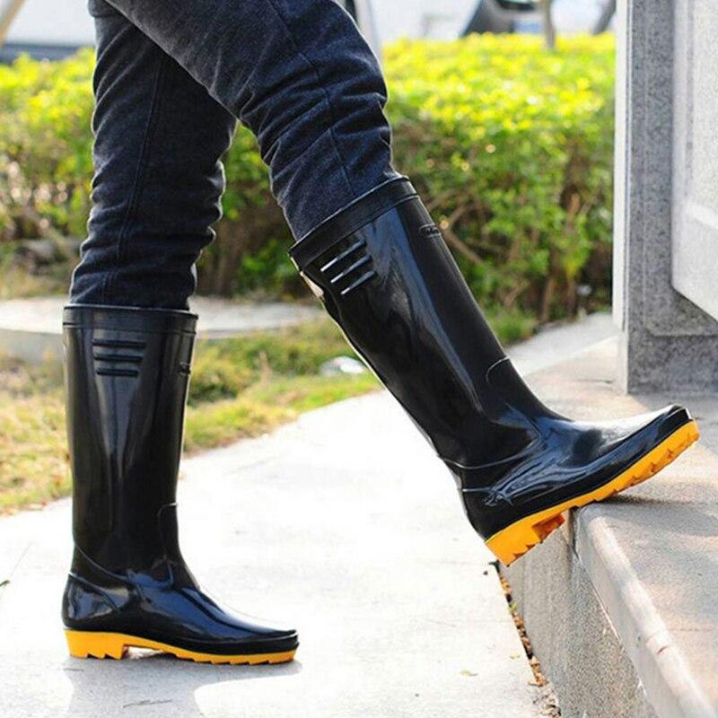 botas longas homens waders pesca antiderrapante impermeavel sapatos de chuva alta vadear jardim fazenda lama agua