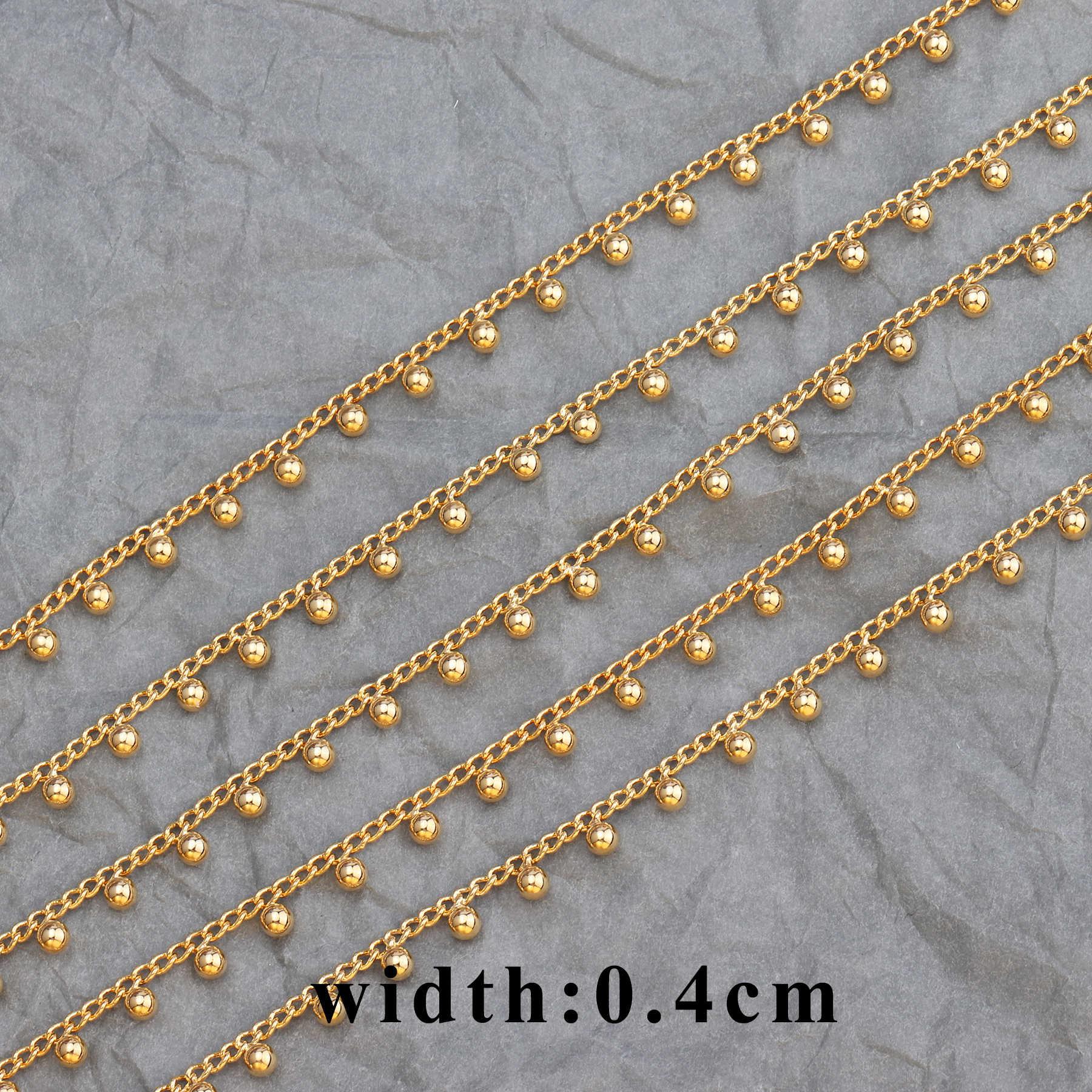 GUFEATHER C55, 18K gold kette, schmuck zubehör, Goldene kette, hand made, schmuck machen, schmuck erkenntnisse, diy ohrringe, 1 mt/los