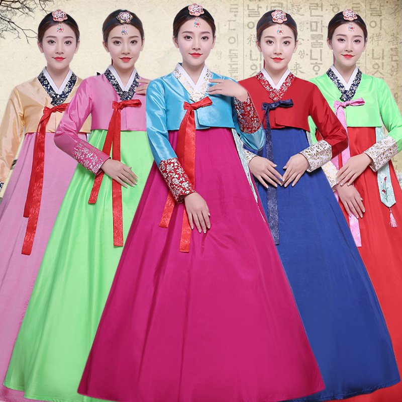 Women Traditional Korean Costumes Adult Hanbok Tops And Blouses Court Ancient Dance Costumes Party Cosplay  Asian Clothing SL156