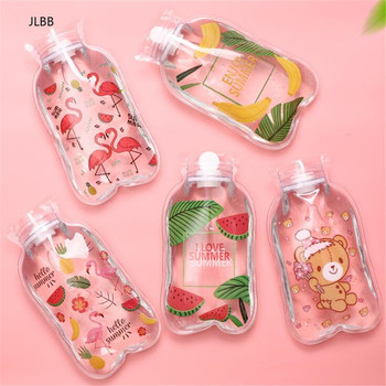 Cute Transparent Hot Water Bottle Warm Belly Treasure Cartoon Hand Warmer Filled Mini Explosion-proof Portable Hot Water Bags image