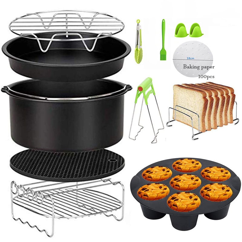 7inch High Quality Air Fryer Accessories for Gowise Phillips Cozyna and Secura,Fit all Airfryer 3.7 4.2 5.3 5.8QT