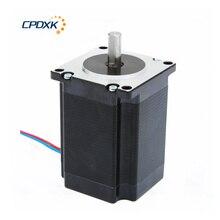 מנוע צעד 2 ביטויים NEMA23 2.2 N.m מומנט 3.0A פיר 8mm עבור ערכת Cnc