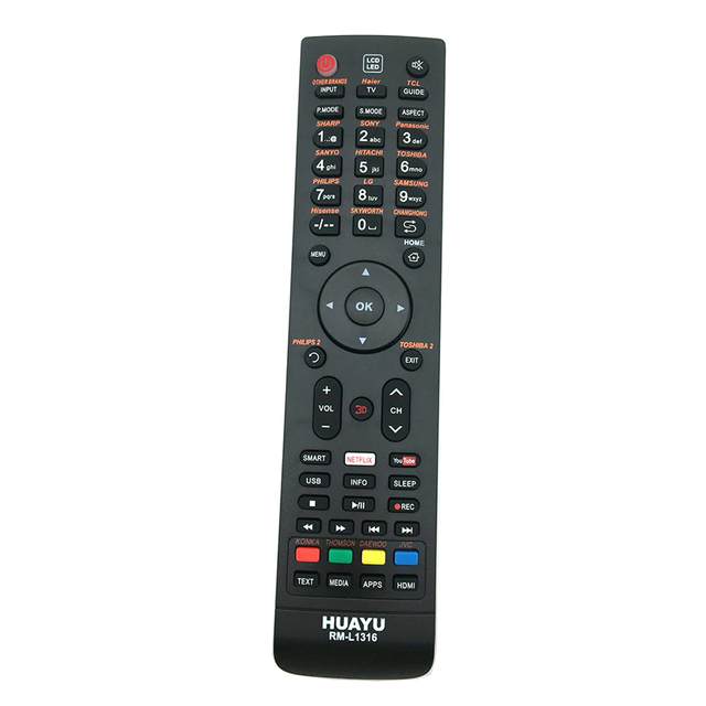 Télécommande universelle de télévision intelligente pour PARKER PREN IER CHUNSHIN CHANGHONG général NEX