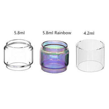 20 pieces Replacement Glass Tube / Rainbow Bubble for Augvape Intake Dual RTA Dual Coil Tank Atomizer 26mm 4.2ml 5.8ml
