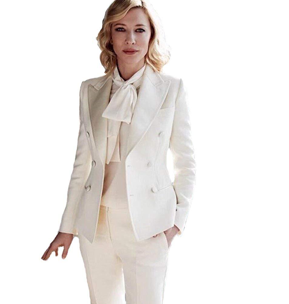 Woman Suits Lady Suit Office Stylish Peaked Collar Autumn Casual Tuxedos 2 Piece Suit Women (Jacket+Pants)