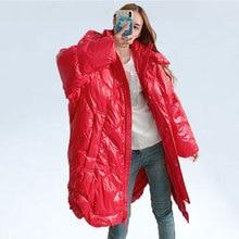 Зимнее пальто женский теплый пуховик с капюшоном модный качественный однотонный большой размер белый пуховик женский пуховик